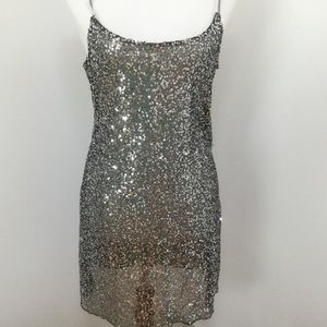 Free People intimately black sequins dress